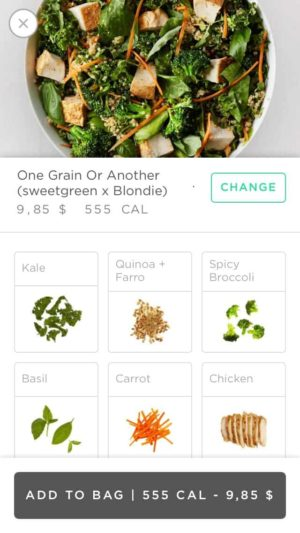 Additional product on Sweetgreen #ui #inspiration #interface #ios #design #iphone from UIGarage