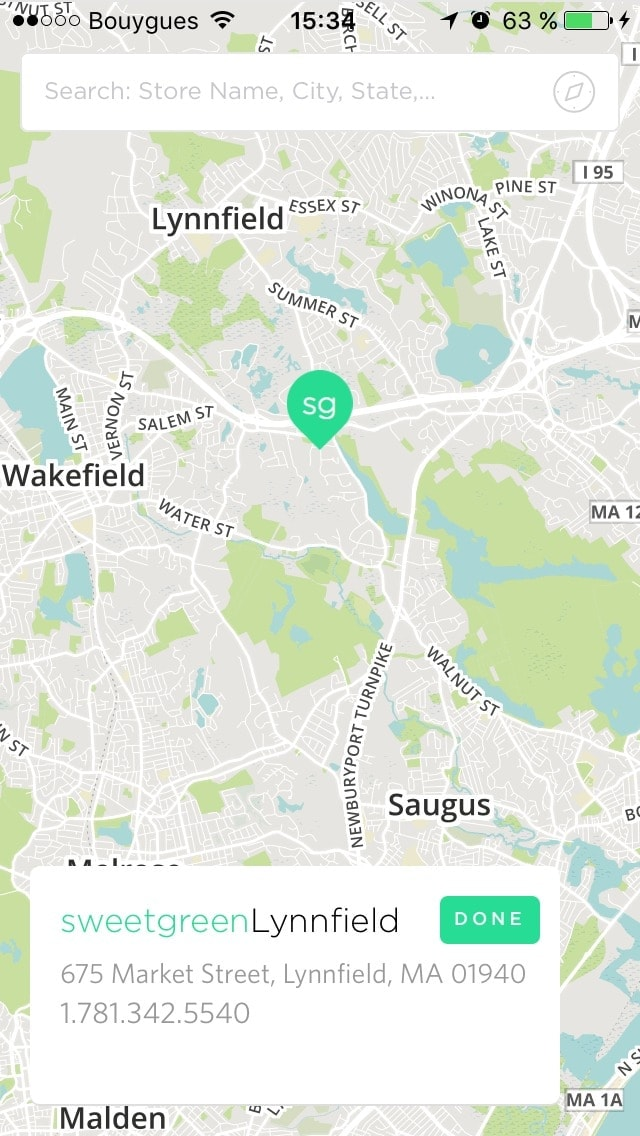 Map screen on Sweetgreen #ui #inspiration #interface #ios #design #iphone from UIGarage