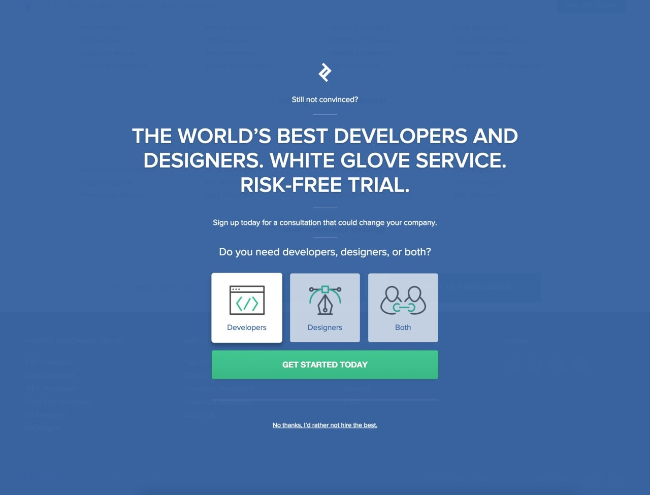 Select option on start web #ui #inspiration #interface #web #design Select Web  - UI Garage - The database of UI