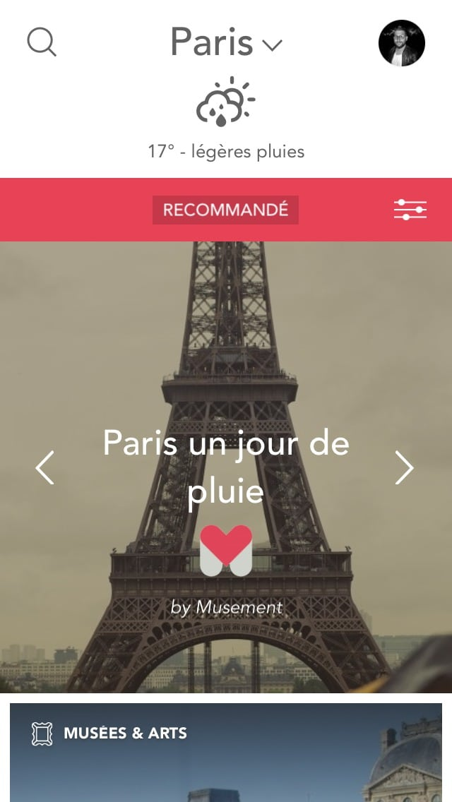 Homepage on Musement #ui #inspiration #interface #ios #design #iphone All Homepage iOS Slider  - UI Garage - The database of UI
