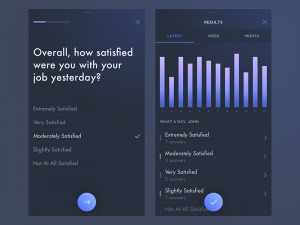 Daily Survey by @Davide86 #ui #inspiration #interface #ios #design #iphone from UIGarage