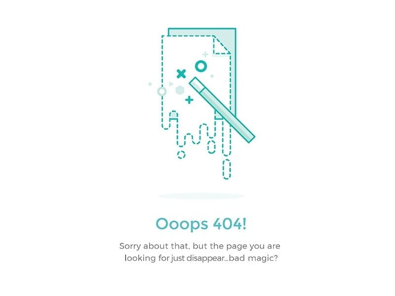 Simple 404 page for web.