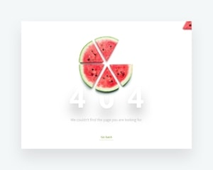 Clear and simple 404 page for web. from UIGarage