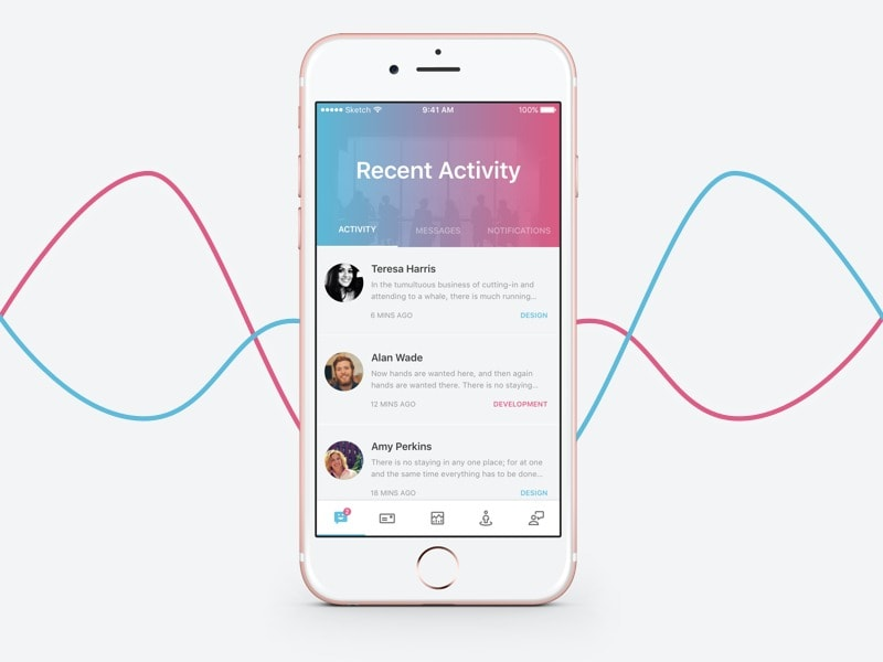 Activity page gradient candy #ui #inspiration #interface #ios #design #iphone