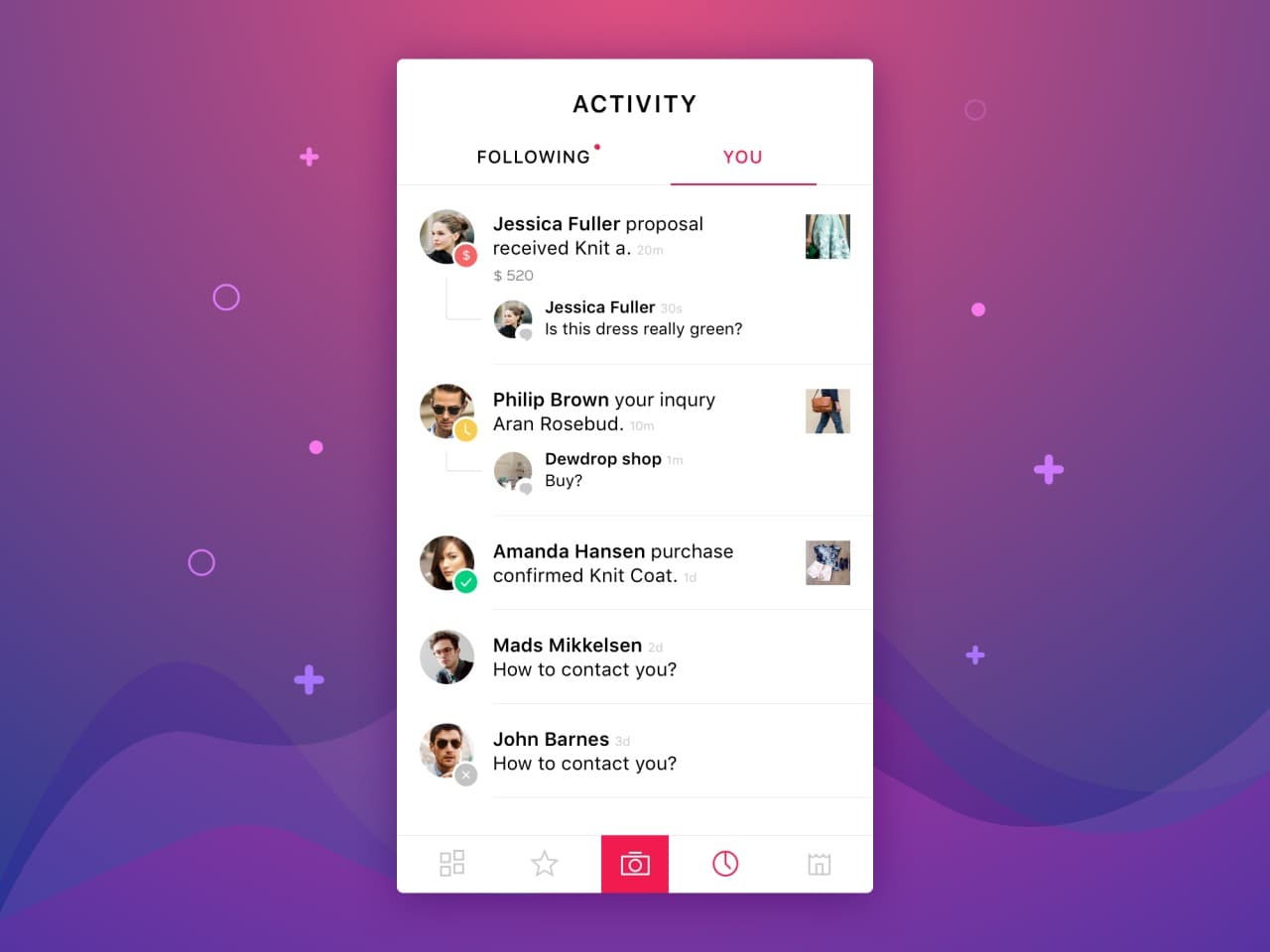 Beautiful activity screen #ui #inspiration #interface #ios #design #iphone