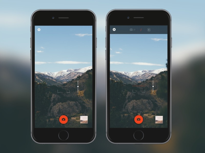 Camera UI by @roberthaverly on Dribbble.