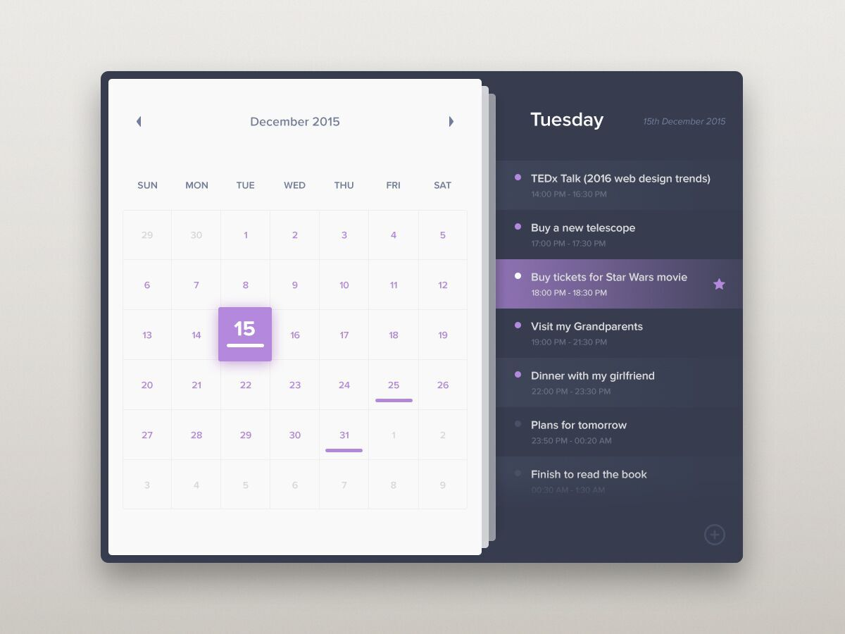 Calendar Design For Website : Calendar view by sergiu radu web ui inspiration