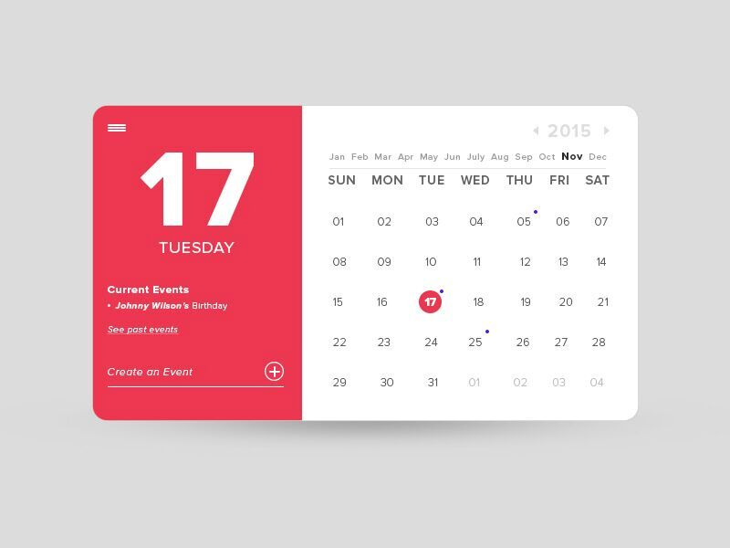 Calendar Design For Website : Calendar archives daily ui design inspiration patterns