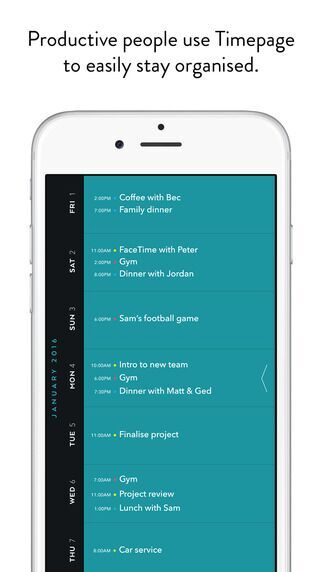 Calendar view on Moleskin app #ui #inspiration #interface #ios #design #iphone