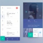 Calendar app by @antalik #ui #inspiration #interface #ios #d...
