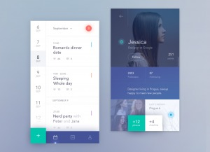 Calendar app by @antalik #ui #inspiration #interface #ios #design #iphone 12