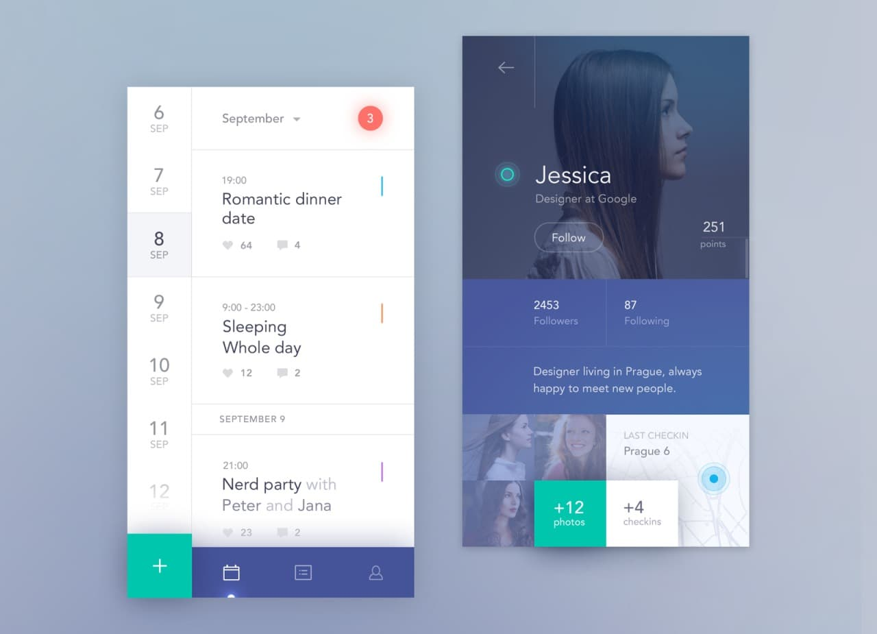 Calendar app by @antalik #ui #inspiration #interface #ios ...