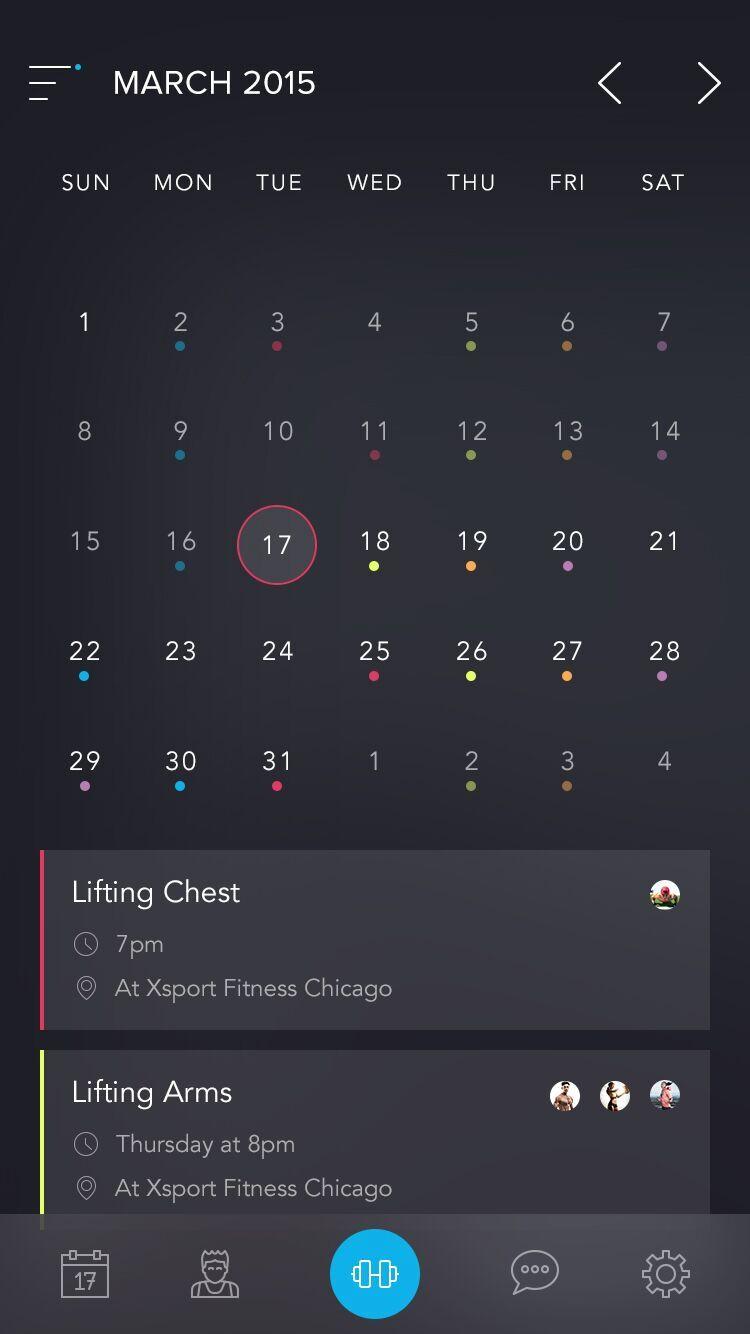 Calendar App Ui : Inspiration beautiful calendar app by austinappy ui