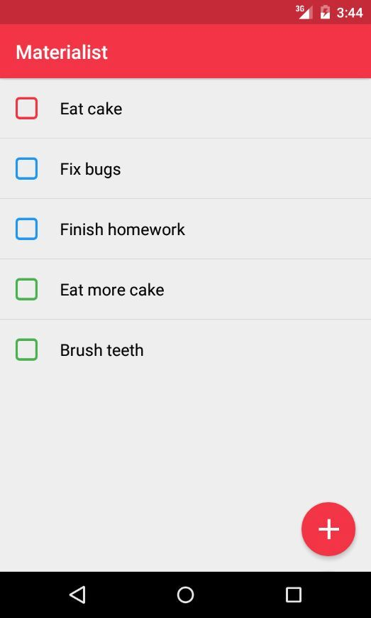 Checkbox multicolours on Android #ui #inspiration #interface #materialdesign #design #android Android Checkbox  - UI Garage - The database of UI