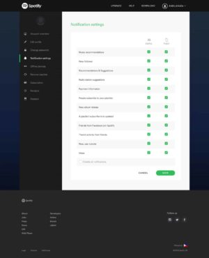 Checkbox on Spotify web #ui #inspiration #interface #web #design from UIGarage
