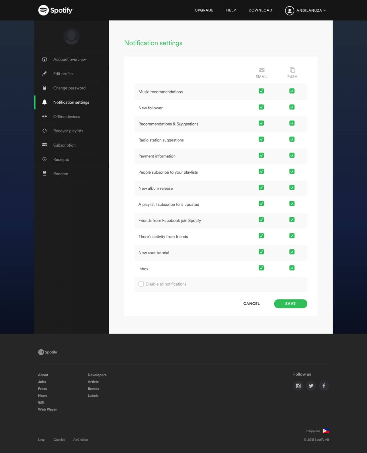 Checkbox on Spotify web #ui #inspiration #interface #web #design