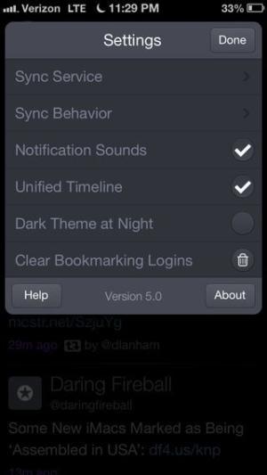Checkbox on iOS Twitterrific #ui #inspiration #interface #ios #design #iphone from UIGarage