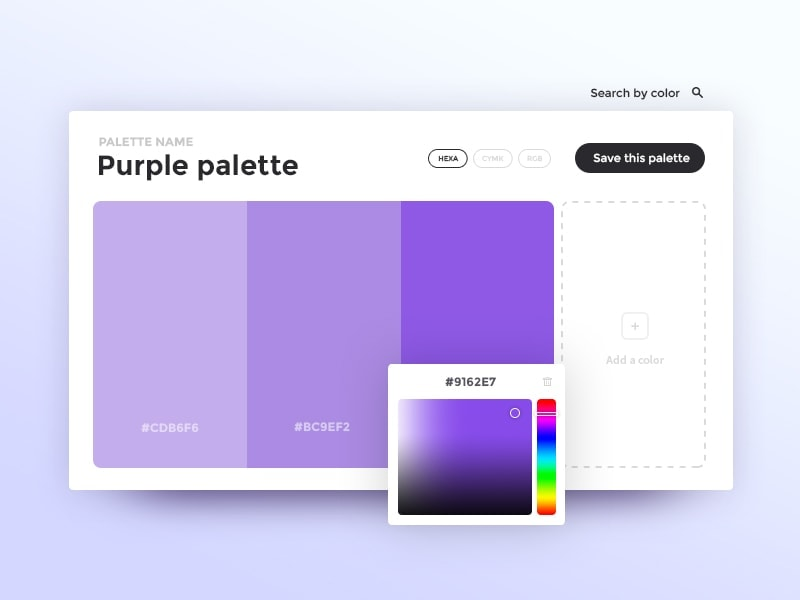 Beautiful colour picker design by @adriengervaix