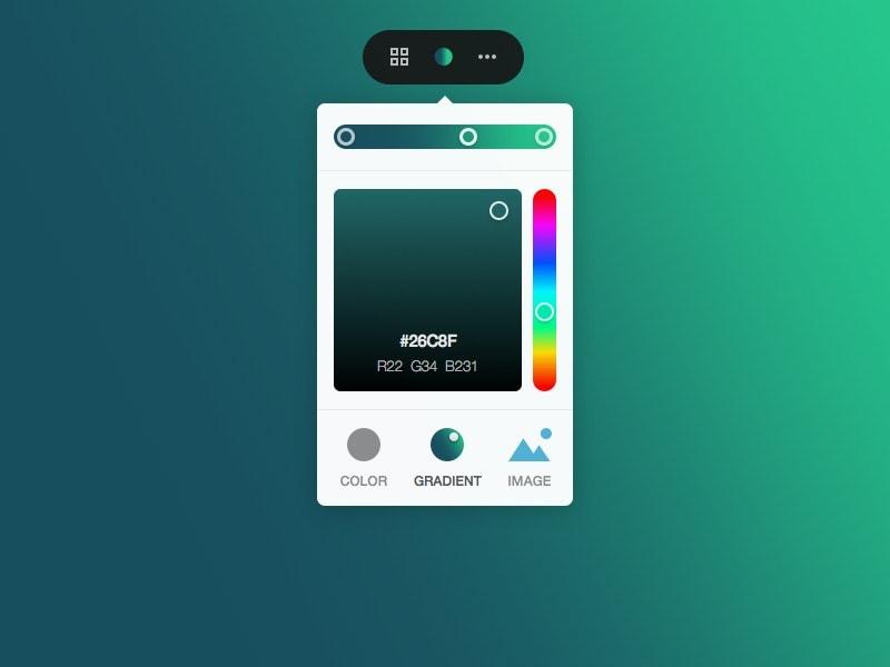 Colorpicker by @madbyte web #ui #inspiration #interface #web #design