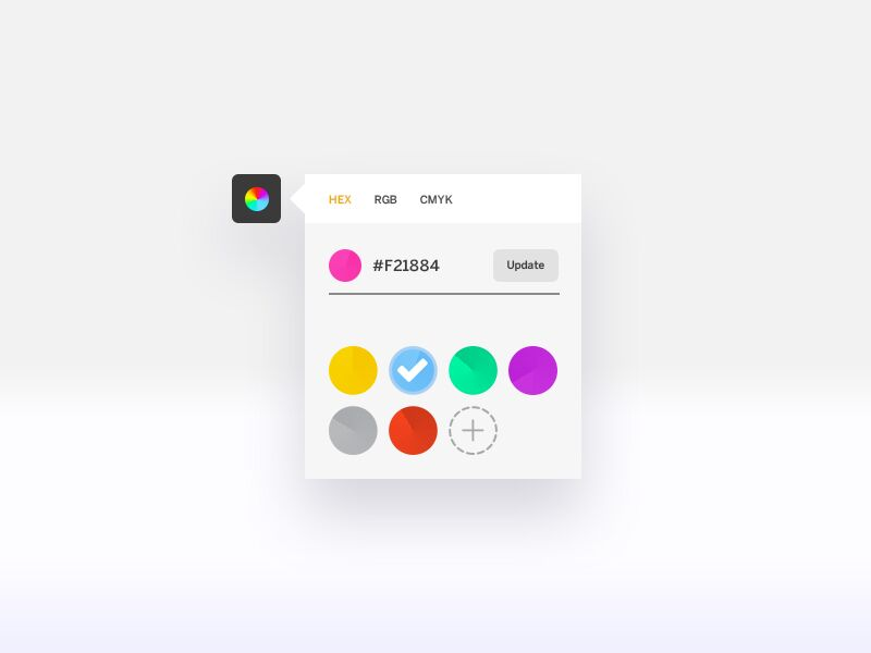 Minimalist color picker by @tatajean web #ui #inspiration #interface #web #design