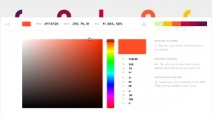 Powerful color picker web #ui #inspiration #interface #web #design from UIGarage