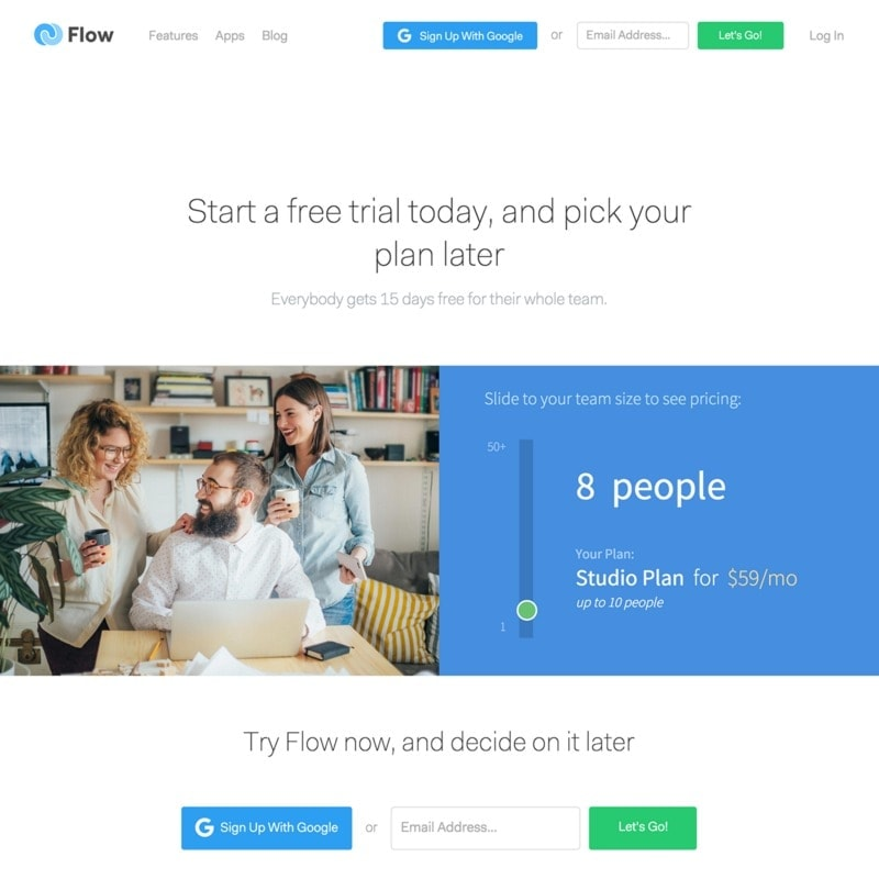Pricing page on Flow web #ui #inspiration #interface #web #design