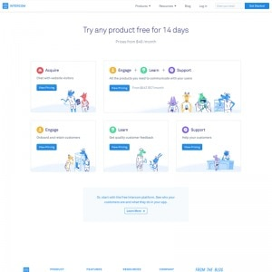 Pricing page on Intercom web #ui #inspiration #interface #web #design from UIGarage