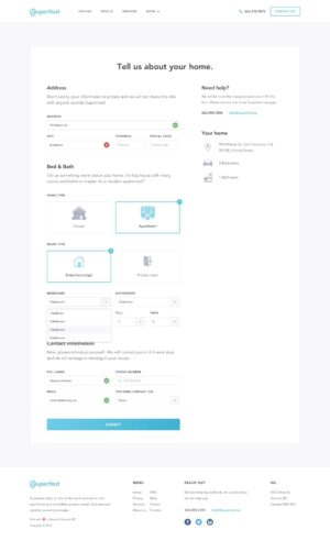Forms completion page by @dembsky from UIGarage