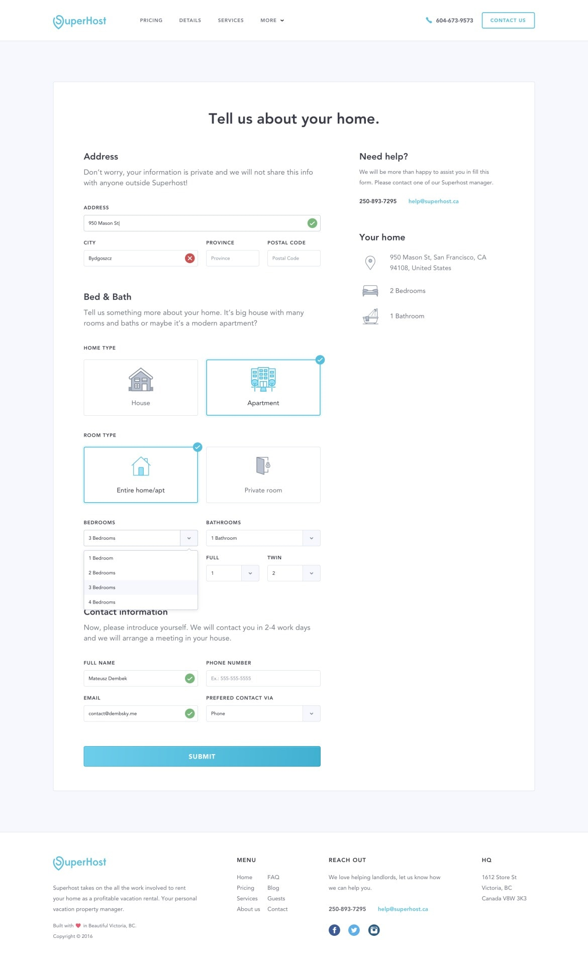 Forms Completion Page By Dembsky Daily Ui Design