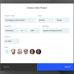 Forms for creating a new project by @NpaulFlavius web #ui #i...