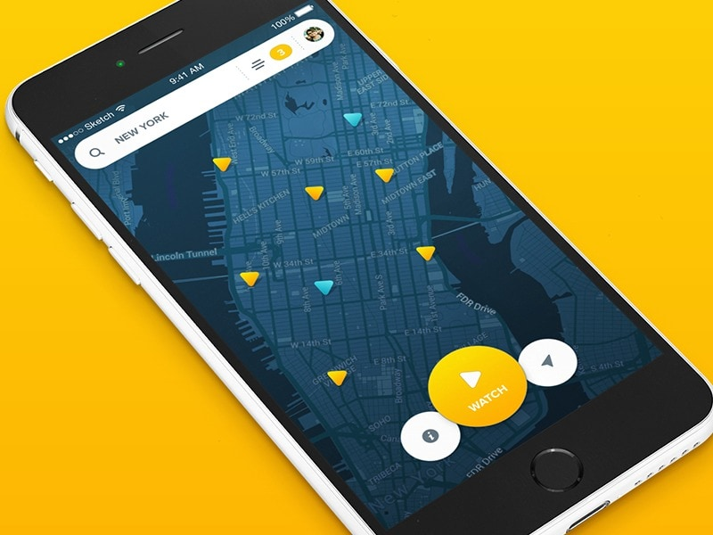 Map inspiration by @aureliensalomon #ui #inspiration #interface #ios #design #iphone