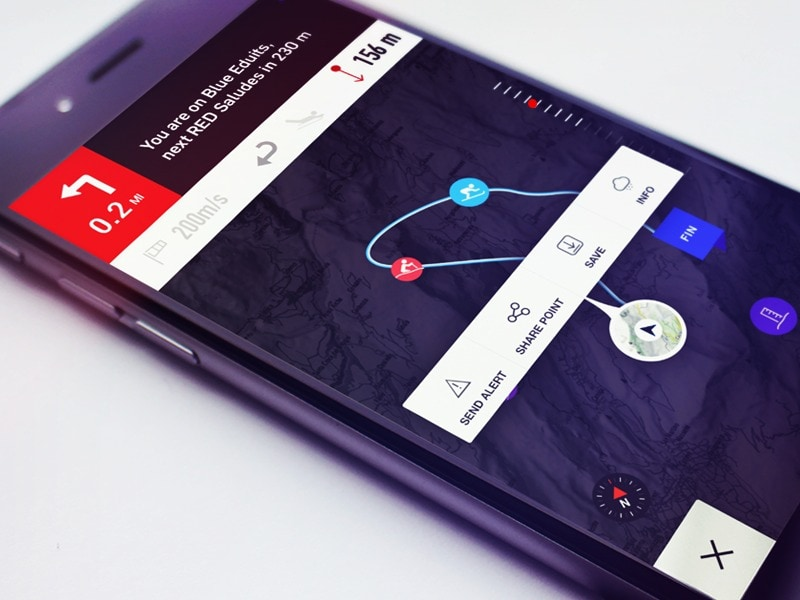 Map navigation inspiration #ui #inspiration #interface #ios #design #iphone