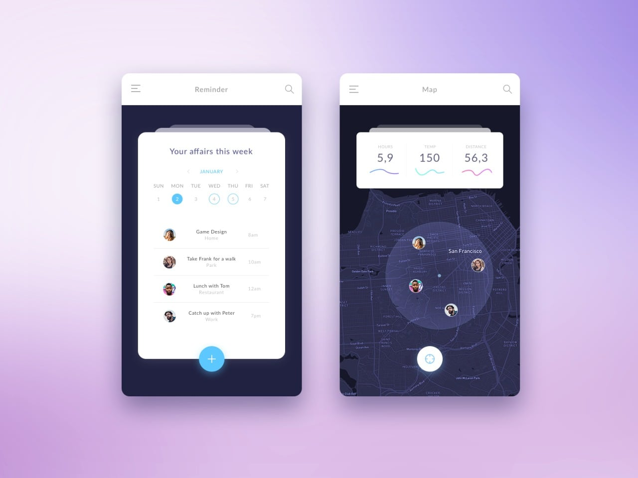 Map inspiration by @Mihalcov #ui #inspiration #interface #ios #design #iphone
