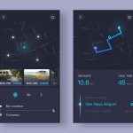Map navigation by @ui_star #ui #inspiration #interface #ios ...