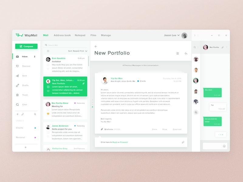Message inspiration on mac ui inspiration interface for Room design web app