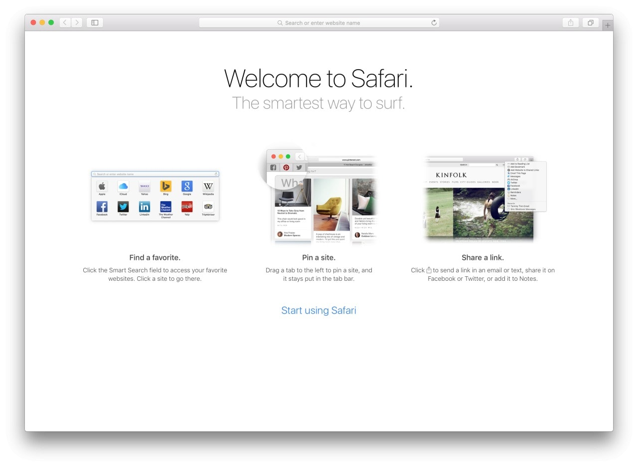 Safari Walkthrough on Mac mac #ui #inspiration #interface #mac #design