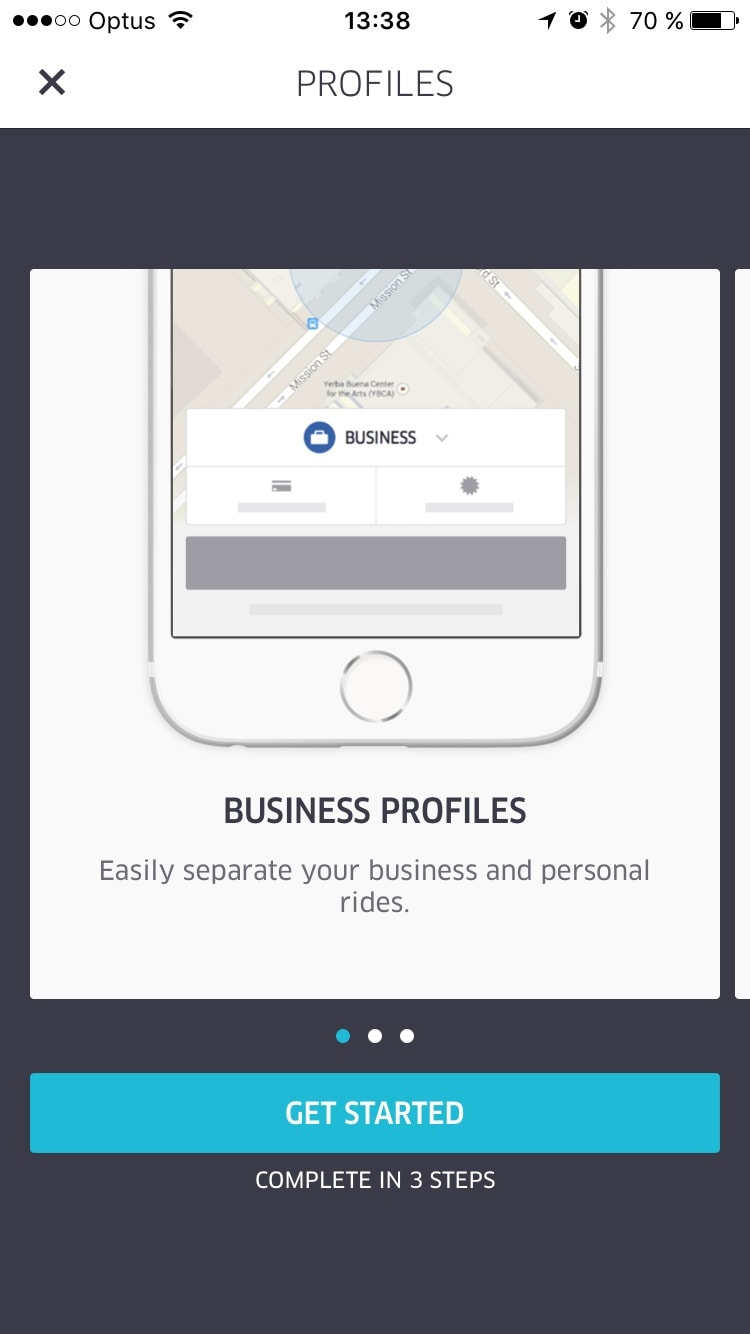 Walkthrough on Uber Business on iOS #ui #inspiration #interface #ios #design #iphone