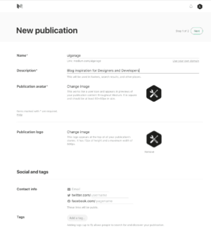 Create publication on @medium from UIGarage