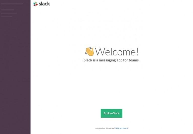 Slack Web Onboarding