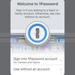 Login on @1password on iOS