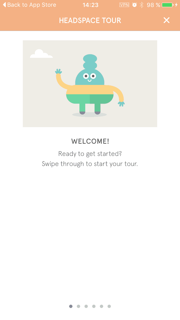 [Gallery] Walkthrough Headspace iOS