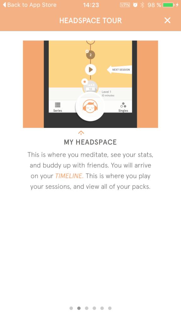[Gallery] Walkthrough Headspace iOS All iOS Walkthrough  - UI Garage - The database of UI