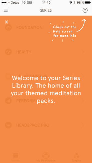 Tutorial on Headspace on iOS from UIGarage