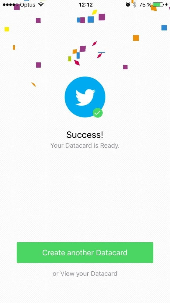 Congrats screen on @databox from UIGarage