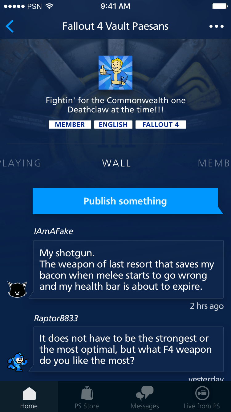 Community page on PS Redesign