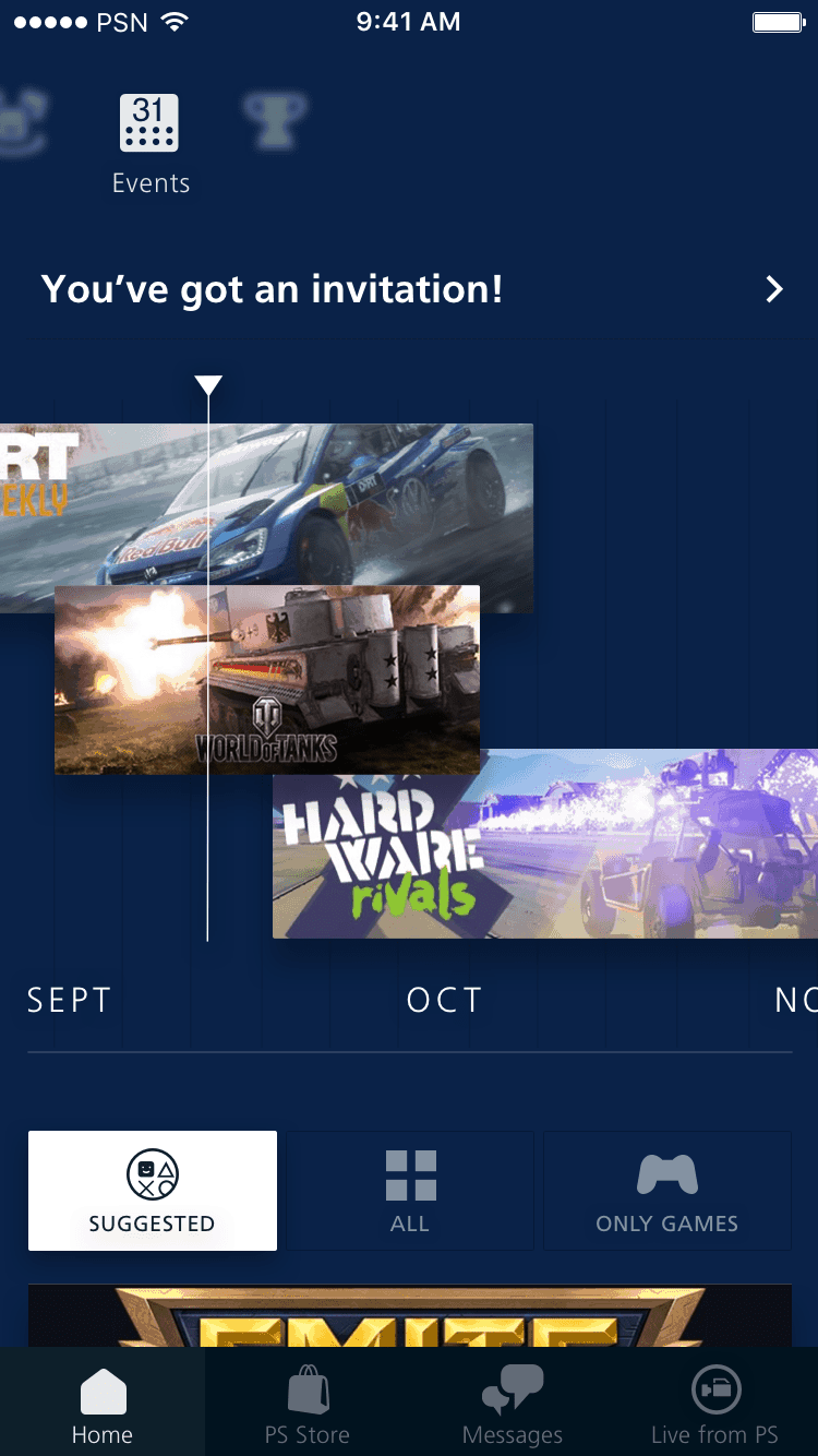 Event calendar on PS Redesign