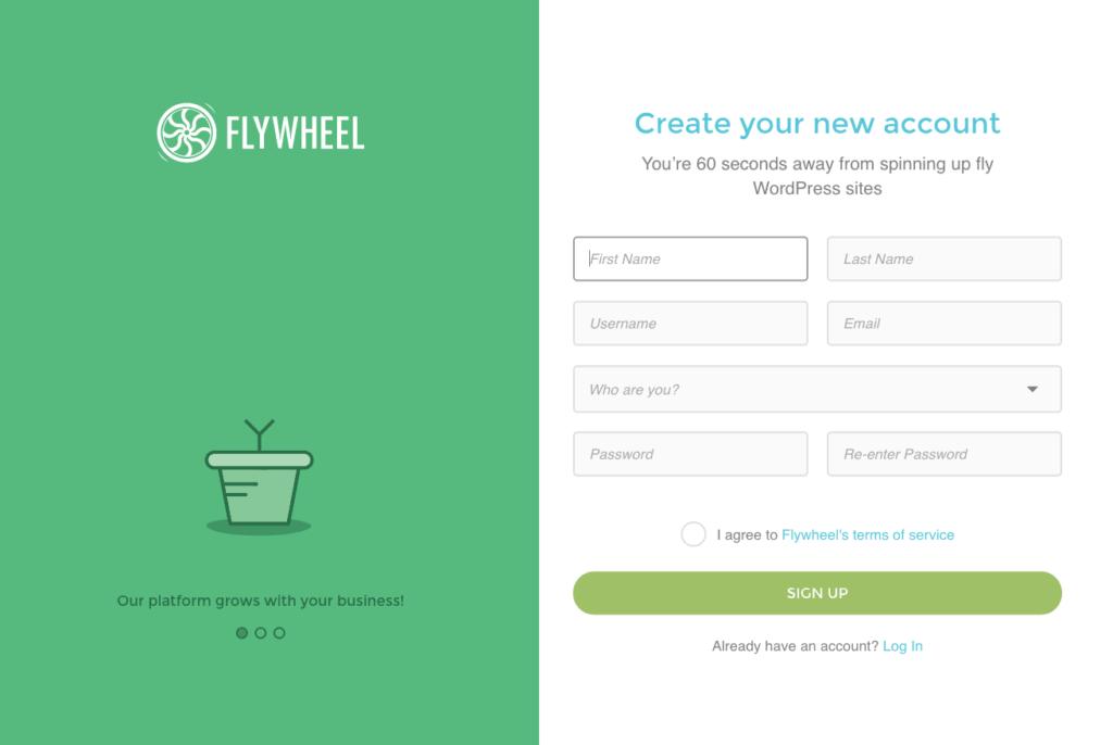 Sign up @ Flywheel Signup Web  - UI Garage - The database of UI
