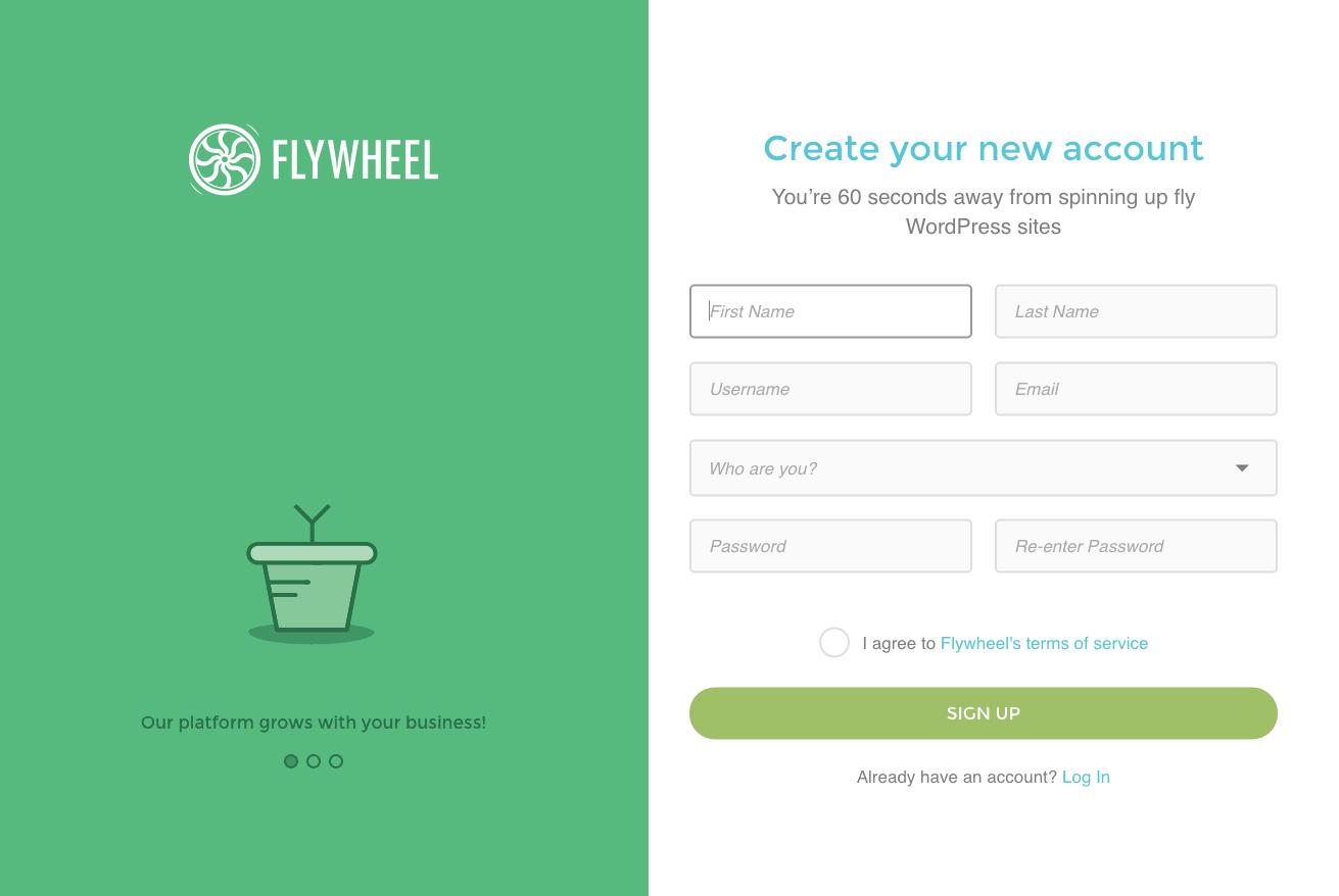 Sign up @ Flywheel