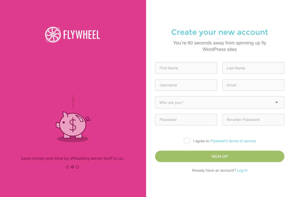 Sign up @ Flywheel All Signup Web  - UI Garage - The database of UI