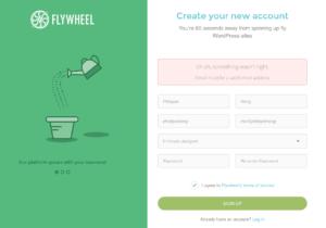 Error message @ Flywheel from UIGarage